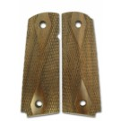Kimber Checkered Walnut Grips, Full Size