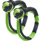 """Bubba Blade Rope Mini Gator Jaw 1/4"""" Synthetic Shackles Black/gree"""