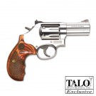 """Smith & Wesson 686 Deluxe .357 3"""" AS 7-Sh Round Butt Wood Grips (Talo)"""