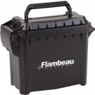 "Flambeau Mini Tactical Ammo Can 8.5""x6.75""x4.25"" Blk-logo"