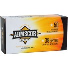 Armscor Ammo .38 Special 125gr. Fmj 50-pack Made In Usa