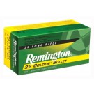 Remington Ammo .22 Long Rifle 50-Pk High Velocity 40Gr. Plated Lrn