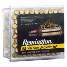 Remington Ammo .22 Long Rifle 100-Pk Yellow Jacket 33Gr. TC Lead-Hp