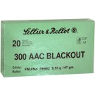 Sellier & Bellot Ammo .300aac Blackout 147gr. Fmj 20-pack
