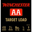 """Winchester Ammunition Ammo Aa Target .410 2.5"""" 1200FPS. 1/2Oz. #9 25-Pack"""
