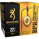 Browning Ammo .22LR Case Lots 1255FPS. 40GR Ldrn 1600Rd Case