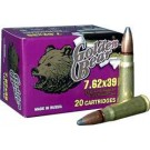 Golden Bear 7.62x39 125Gr. Soft-Point 500 Round Case