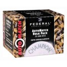 Federal Cartridge Ammo Automatch .22LR 40GR Rn 10-325Rd Pks Case Lots Only