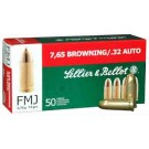 Sellier & Bellot Ammo .32ACP 73Gr. FMJ-RN 50-Pack