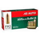 Sellier & Bellot Ammo .45ACP 230Gr. FMJ-RN 50-Pack