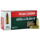 Sellier & Bellot Ammo 9MM Luger 115Gr. FMJ 50-Pack