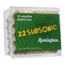 Remington Ammo .22 Long Rifle 100-Pk Subsonic 38Gr. Lead-Hp
