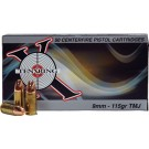 Ten-X X Ring Ammo 9mm 115gr. Fmj 50-pack
