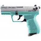 "Walther PK380 .380ACP 3-Dot AS 3.6"" 8-Rd Mag Angel Blue"