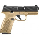 FNH 509 9mm Luger 17-shot Fde Frame/black Slide
