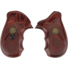 Pachmayr Laminated Wood Grips S&W J-Frame Rosewood Checkered