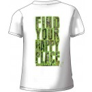 """Realtree Women's T-shirt """"happy Place"""" X-large White"""