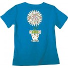 """Realtree Women's T-shirt """"blooming"""" Small Cobalt W/graphic"""
