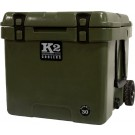 K2 Coolers Summit Series 30 Qt Duck Boat Green W/ Wheels