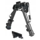 "UTG Bipod Tactical Op 5.9-7.3"" Picatinny Mount W/Stud Adapter"