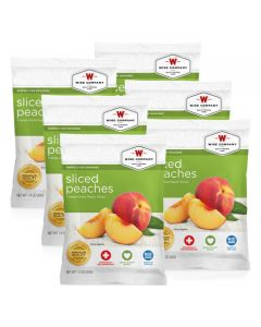 Wise Food Supply Freeze Dried Peaches Case Of 6