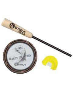 "Hunters Specialties Strut ""Raspy Old Hen"" Glass Friction Turkey Call"