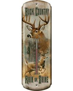 "Rivers Edge Thermometer ""Buck Country-Rain Or Shine"""