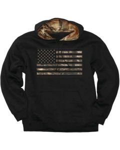 Buck Wear Hoodie Camo Stars & Stripes Black Medium