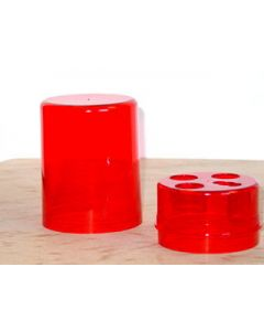 Lee Precision Die Storage Box For 3 Dies Round Style Red Plastic