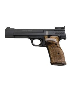 "Smith & Wesson 41 .22LR 5.5"" HB AS 10Sh-Ats-Ts-Dt Blued Wood"