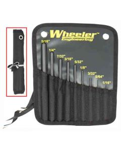 Wheeler Engineering 9-Pc Roll Pin Punch Set W/Storage Pouch