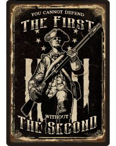 """Rivers Edge Embossed Sign 12""""x17"""" """"first Ammendment"""""""
