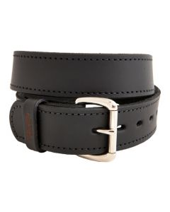 "Versacarry Double Ply Leather Belt 38""x1.5"" Heavy Duty Black"