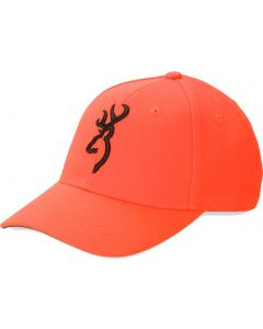 Browning Cap Safety Orange With 3-d Buck Mark Logo Adjustable