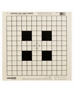 """Champion Tgt Paper 14""""x14"""" 100Yd. Sight In Target 12Pk"""
