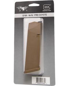 Glock Magazine Model 19x 9mm Luger 17-rounds Coyote Brown