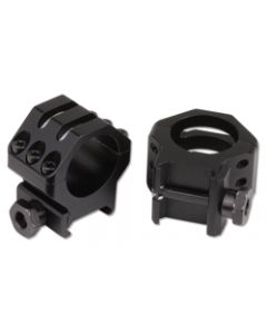 "Weaver Tactical Rings 1"" 6-Hole High Matte Black"