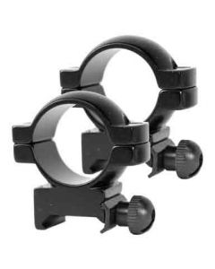 "Simmons Rings 1"" Medium Black Gloss"