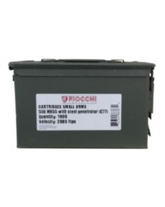 Fiocchi M855 5.56mm Bulk Ammo Metal Can 1000 Rounds