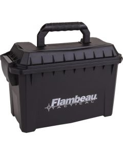 "Flambeau Compact Tactical Ammo Can 11.5""x7.75""x5.5"" Blk-logo"