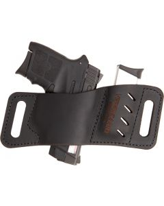 Versacarry Leather Mag Holder Single Stack W/ Flex Vent Blk
