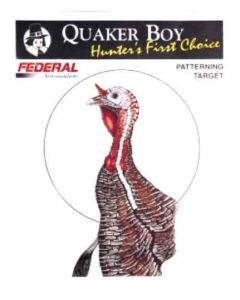 "Quaker Boy Turkey Target 20""x20"" Rolled 10 Pack"