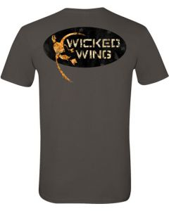 Bg Men'S T-Shirt Wicked Wing Logo X-Large Charcoal Gray