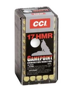 CCI Ammo Gamepoint .17HMR 1875FPS. 20Gr. Gamepoint 50-Pk