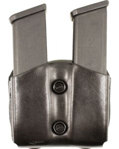 Desantis Double Mag Pouch Owb Leather Single Stack 10/45 Blk