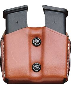 Desantis Double Mag Pouch Owb Leather Glock 17/19/22/23 Tan