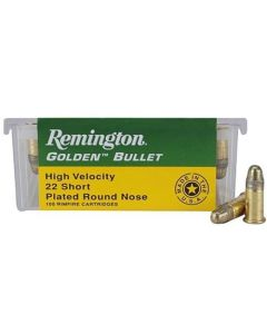 Remington Ammo .22 Short 100-pack High Velocity 29gr. Plated Lrn