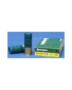 "Remington Ammo Buckshot 12GA. 2.75"" 1325FPS. #4Bk 27-Pellets 5-Pk"
