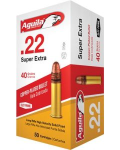 Aguila Ammo .22Lr High Vel. 1255Fps. 40Gr. Lead Rn 50-Pack