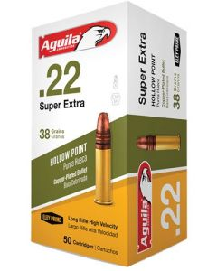 Aguila .22Lr High Vel. 1280Fps. 38Gr. Lead Hp 50-Pack